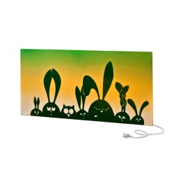 Panel ścienny UDEN-700 Timid Rabbits Green