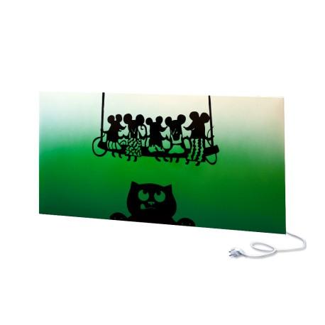 Panel ścienny UDEN-700 Cat & Mice Green